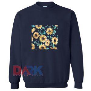 Sun Flowers Print Sweatshirt