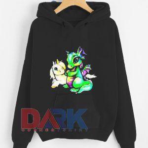 Unicorn and Dragon hooded sweatshirt