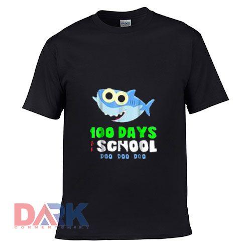 100 Days of School Baby Shark Doo Do t-shirt for men and women tshirt