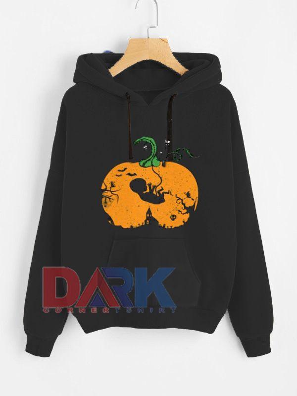 'Halloween Pregnancy Announcement hooded sweatshirt